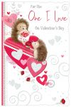 Valentine's Day Card - One I Love - Hedgehog - Glittered - Out of the Blue