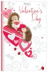 Valentine's Day Card - Happy - Hedgehog - Glittered - Out of the Blue