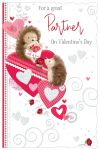 Valentine's Day Card - Partner - Hedgehog - Glittered - Out of the Blue
