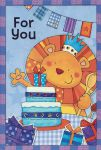 Boys Lion Birthday Card