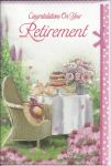 Retirement Card - Female - Garden Afternoon Tea