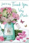 Thank You Card - Shabby Chic Flowers