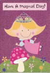 Girls Magical Day Princess Birthday Card