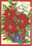 Across the Miles - Poinsettia  - Christmas Card