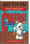 Happy Birthday Card - Male Open - Cheers