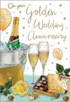 Wedding Anniversary Card - On Your Golden 50 50th Anniversary