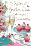 Wedding Anniversary Card - Sister & Brother in Law - Regal
