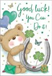 Good Luck Card - Horseshoe & Bear - Regal