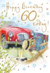 60th Birthday Card - Male - Classic Sports Car - Regal