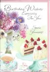 Birthday Card - Female - Spoil Yourself Tea & Cake