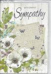 Sympathy Card - Deepest Sympathy - Flowers & Butterfly