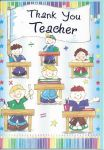 Thank You Teacher Card - Blue Boys - Flag