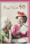 40th Birthday Card - Female Humour - Bingo Laughing