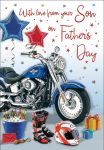 Father's Day Card - From your Son - Motorbike - Regal