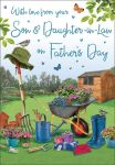 Father's Day Card - From your Son & Daughter in Law - Garden - Regal