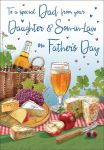 Father's Day Card - Dad From your Daughter & Son in Law - Wine & Cheese - Regal