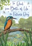 Father's Day Card - Dad From Both of Us - Kingfisher - Regal