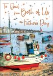 Father's Day Card - Dad From Both of Us - Boat - Regal
