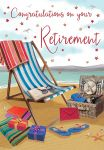 Retirement Card - Deck Chair with Hamper