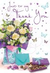 Thank You Card - Bouquet of Flowers