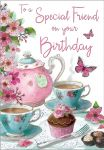 Birthday Card - Special Friend - Tea For Two Teapot - Regal
