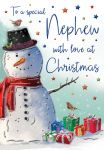 Christmas Card - Nephew - Snowman - Regal