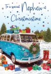 Christmas Card - Nephew - Campervan - Regal