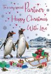 Christmas Card - Partner - Penguins - Regal