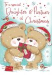 Christmas Card - Daughter & Partner Cute Bears - Regal