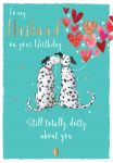 Birthday Card - Husband - Dalmatian Dog - The Wildlife Ling Design