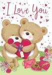 Valentines Day Card - I Love You - Cute Bears - Regal