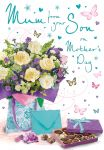 Mother's Day Card - Mum From Your Son - Flowers Chocolates - Regal
