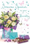 Birthday Card - Someone Special - Flowers & Chocolates - Regal