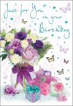 Birthday Card - Female - Just For You Flowers & Presents - Regal
