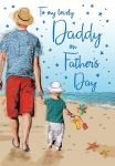 Father's Day Card - Daddy - Beach Walk - Regal
