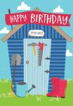 Birthday Card - Male - Man Shed DIY Tool Garden - Jolly Good Ling Design