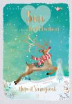 Christmas Card - Son 1st Christmas Rudolph Reindeer - Jack & Lily Ling Design