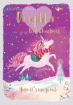 Christmas Card - Daughter 1st Xmas - Unicorn - Jack & Lily Ling Design