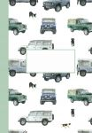 Land Rover Defender Notebook Jotter - Arty Penguin