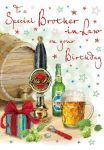 Birthday Card - Brother-in-Law Beer - Glitter - Regal