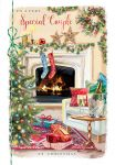 Christmas Card - Special Couple - Fireplace - At Home Ling Design