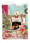 Christmas Card - Mum - Fireplace - At Home Ling Design