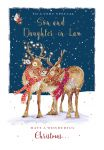 Christmas Card - Son & Daughter in Law - Reindeer - The Wildlife Ling Design