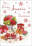 Christmas Card - Auntie - Hot Chocolate - Glittered - Regal