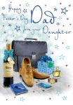 Father's Day Card - Dad From your Daughter - Briefcase - Glitter Regal