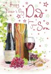 Father's Day Card - Dad From your Son - Wine - Glitter - Regal