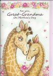 Mother's Day Card - Great Grandma - Giraffe
