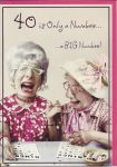 40th Birthday Card - Female Humour - Bingo Crying