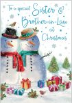 Christmas Card - Sister & Brother in Law Snowman - Regal