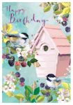 Birthday Card - Birds Amongst the Blackberries - At Home Ling Design
